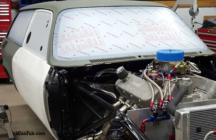 Lexan window in vega wagon