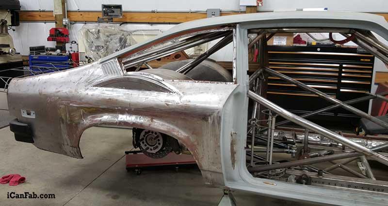 metal fabrication on this big tire car