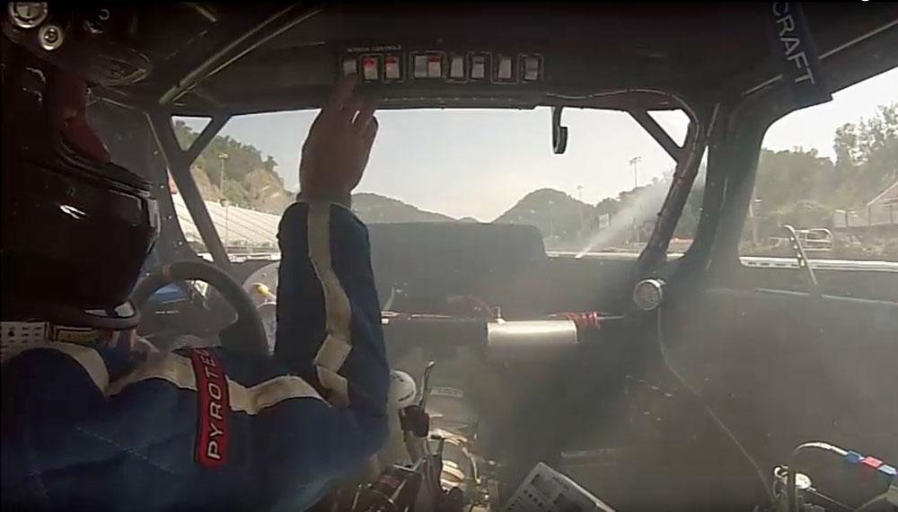 vega hatchback on test day - with NOS